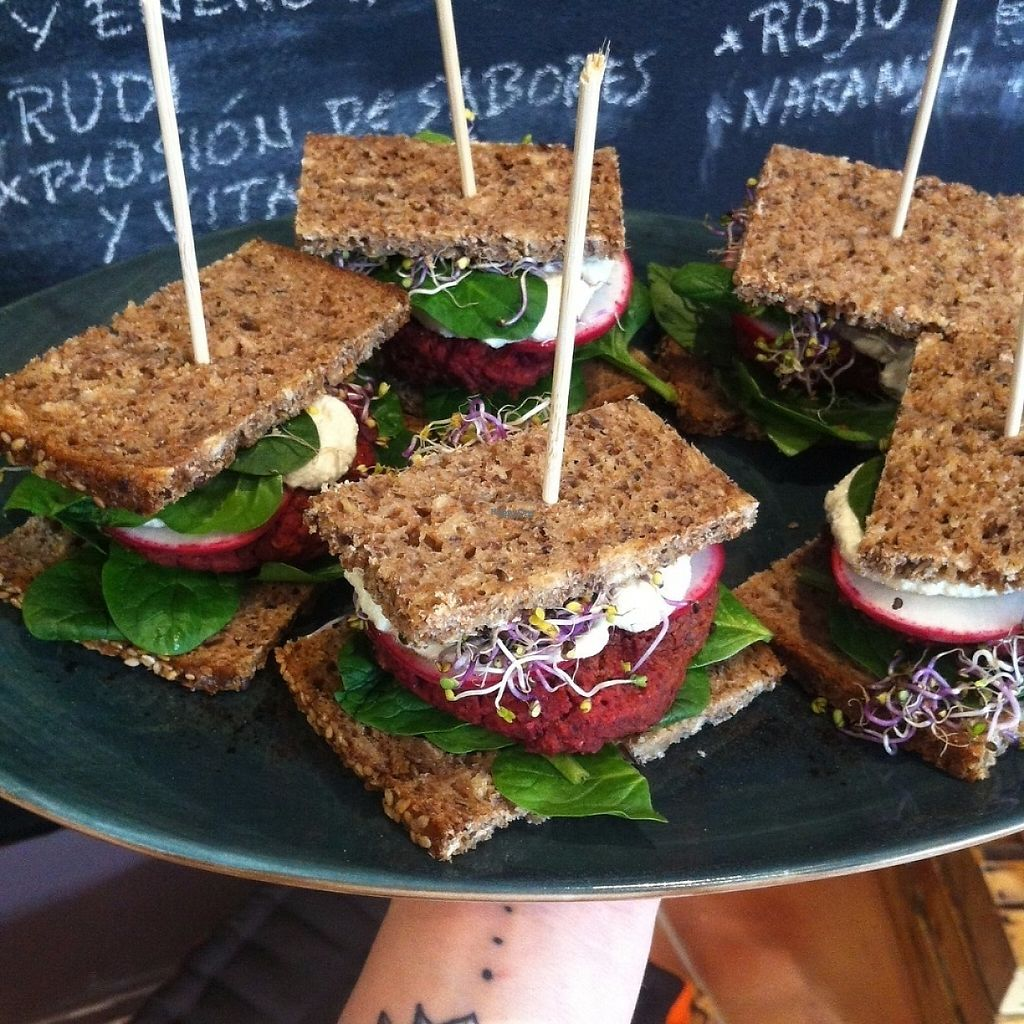 """Photo of La Libelula Coffeeshop  by <a href=""""/members/profile/Almag"""">Almag</a> <br/>Redbeet burgers with horseradish souce in german bread. Nice tapa  <br/> March 4, 2017  - <a href='/contact/abuse/image/87896/232564'>Report</a>"""