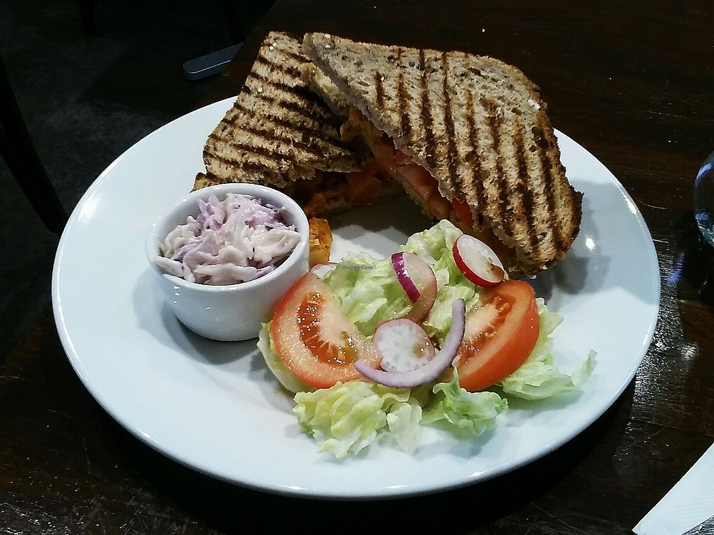 """Photo of The V & V Cafe  by <a href=""""/members/profile/unmond"""">unmond</a> <br/>signature vegan Pakora Toastie <br/> December 16, 2017  - <a href='/contact/abuse/image/87908/336106'>Report</a>"""