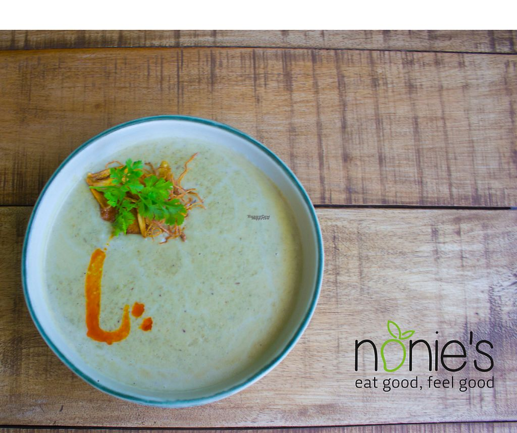 "Photo of Nonie's  by <a href=""/members/profile/ShriaFlorencio"">ShriaFlorencio</a> <br/>Munggo Soup with Vegan Lavosh Bread on the side.