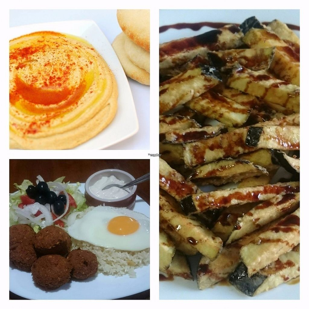 """Photo of CLOSED: Babel  by <a href=""""/members/profile/AuraAlina"""">AuraAlina</a> <br/>Hummus, Falafel and Eggplants with cane honey <br/> March 20, 2017  - <a href='/contact/abuse/image/87946/238863'>Report</a>"""