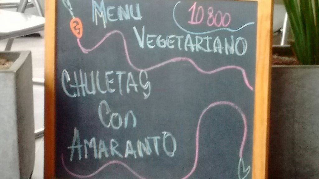 """Photo of Origenes Comida Saludable  by <a href=""""/members/profile/maynard7"""">maynard7</a> <br/>Vegetarian menu board <br/> March 1, 2017  - <a href='/contact/abuse/image/87957/231678'>Report</a>"""