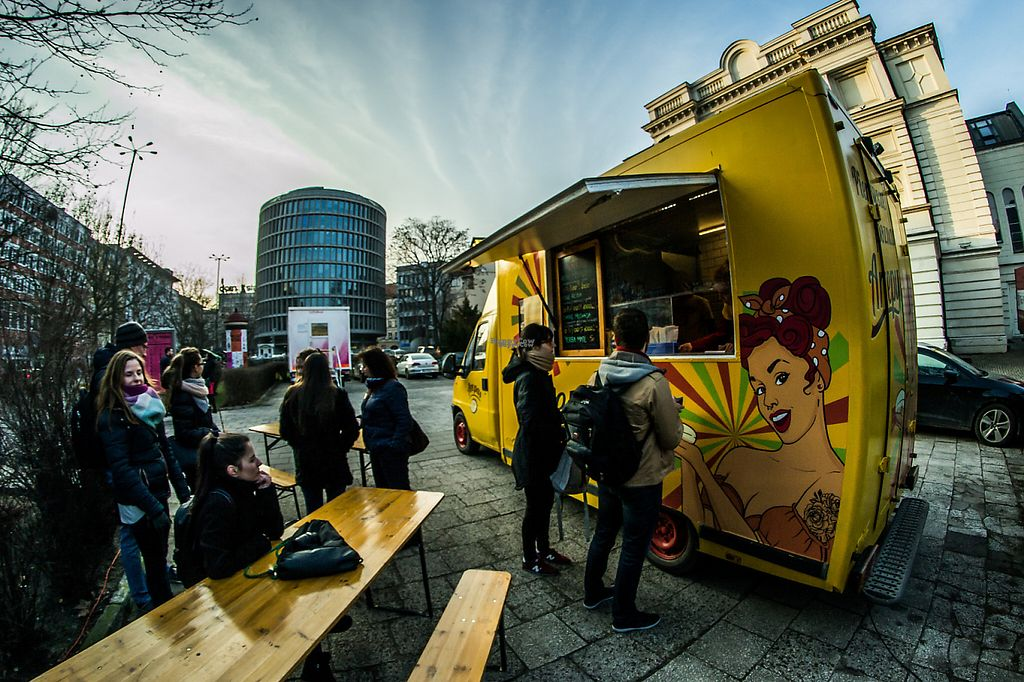 """Photo of Arepas - Food Truck  by <a href=""""/members/profile/Annamaria"""">Annamaria</a> <br/>The opening day of Arepas foodtruck in the center of Poznań, on the Polish Teatre's parking!   Vege reina: jackfruit + avocado + cucumber + wegetarian yerba mate  <br/> March 10, 2017  - <a href='/contact/abuse/image/87998/234977'>Report</a>"""