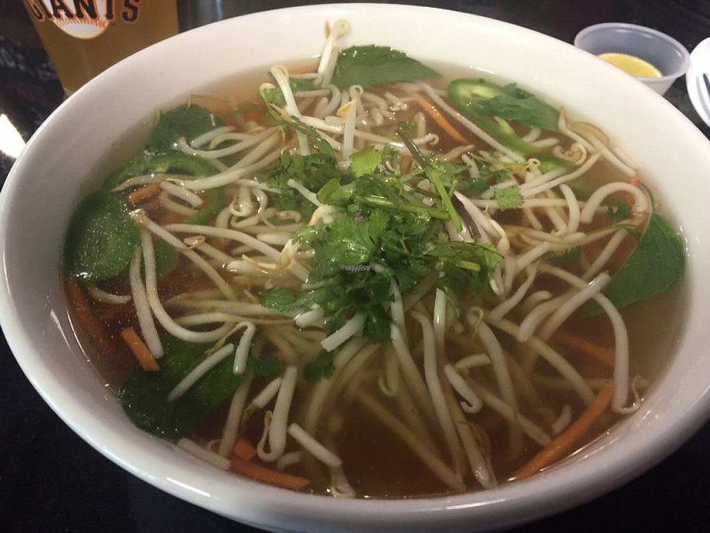 """Photo of Pho Americana  by <a href=""""/members/profile/Bri_vegan"""">Bri_vegan</a> <br/>vegetarian pho <br/> March 6, 2017  - <a href='/contact/abuse/image/88050/233621'>Report</a>"""