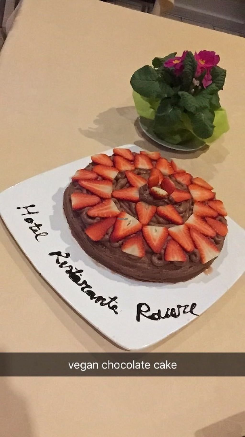 """Photo of Hotel Rovere  by <a href=""""/members/profile/ssarad"""">ssarad</a> <br/>Vegan chocolate cake <br/> March 5, 2017  - <a href='/contact/abuse/image/88052/233119'>Report</a>"""