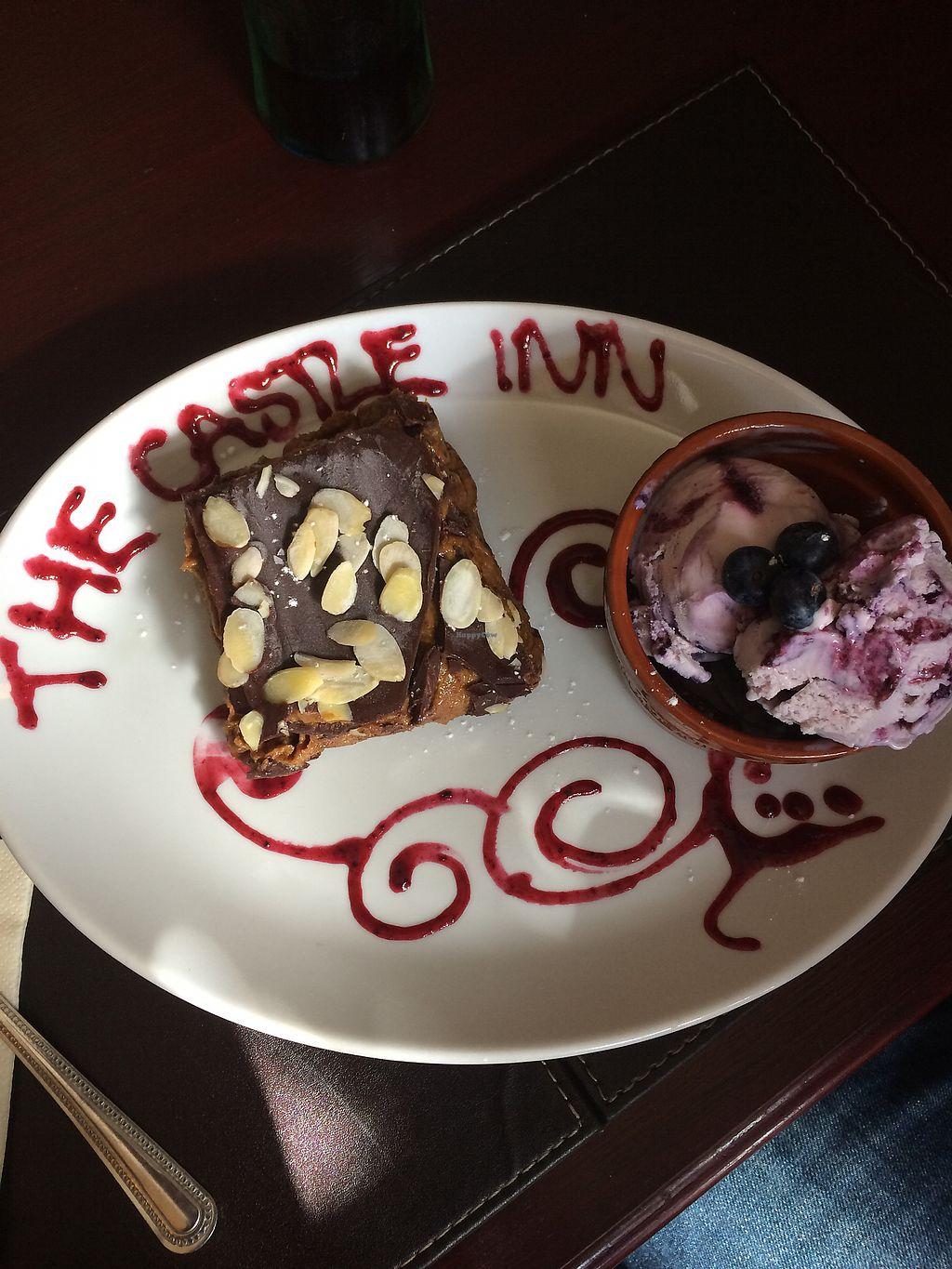"""Photo of The Castle Inn   by <a href=""""/members/profile/TinaDipi"""">TinaDipi</a> <br/>Salted caramel tart- delicious! <br/> September 12, 2017  - <a href='/contact/abuse/image/88054/303626'>Report</a>"""