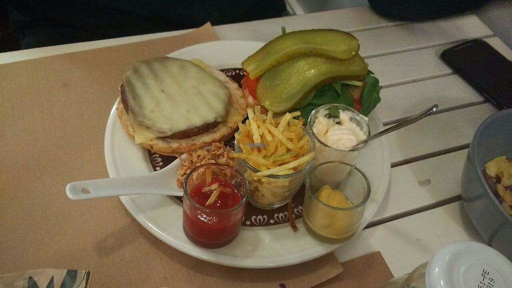 """Photo of Green Zone Bio Bar  by <a href=""""/members/profile/coviv"""">coviv</a> <br/>Shiitake and seitan vegetarian burguer, vegan also available <br/> March 3, 2017  - <a href='/contact/abuse/image/88068/232276'>Report</a>"""