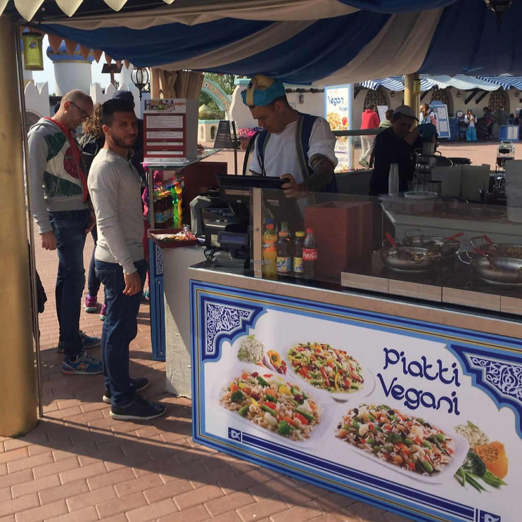 """Photo of Vegan Kiosk  by <a href=""""/members/profile/FabioDiRosa"""">FabioDiRosa</a> <br/>cold and warm dishes <br/> April 23, 2017  - <a href='/contact/abuse/image/88075/251440'>Report</a>"""