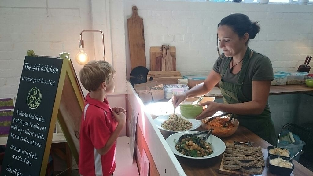 """Photo of The Art Kitchen  by <a href=""""/members/profile/srauth"""">srauth</a> <br/>youngest costumer yet :-)  <br/> April 14, 2017  - <a href='/contact/abuse/image/88076/247979'>Report</a>"""