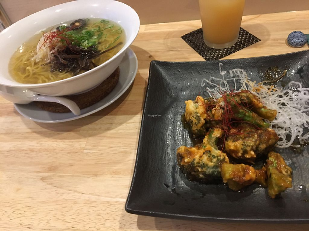 """Photo of LBK Craft  by <a href=""""/members/profile/Jalan333"""">Jalan333</a> <br/>vegan ramen and brocoli chili dish <br/> May 21, 2017  - <a href='/contact/abuse/image/88083/260892'>Report</a>"""
