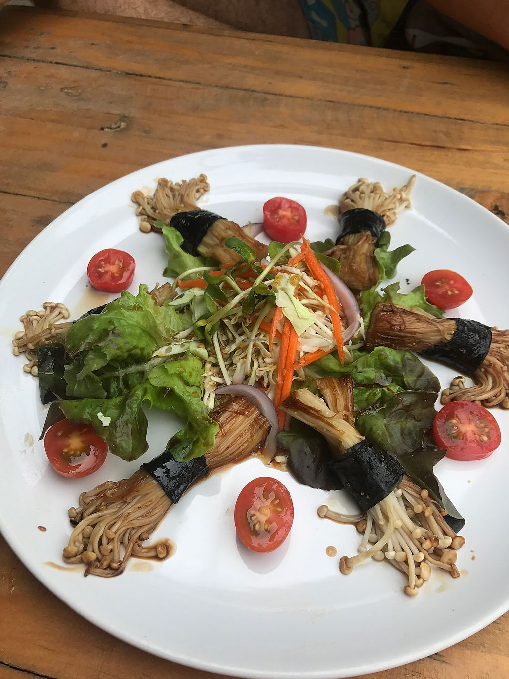 "Photo of Tofu  by <a href=""/members/profile/ttigerlilly"">ttigerlilly</a> <br/>Such lovely presentation ! Mushrooms in seaweed served in a teriyaki sauce. Yum!  <br/> December 1, 2017  - <a href='/contact/abuse/image/88087/331155'>Report</a>"