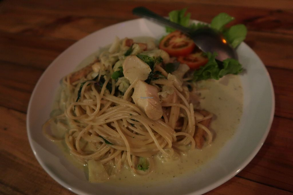 "Photo of Tofu  by <a href=""/members/profile/janinaschlund"">janinaschlund</a> <br/>Spaghetti Green Curry <br/> February 21, 2018  - <a href='/contact/abuse/image/88087/362009'>Report</a>"
