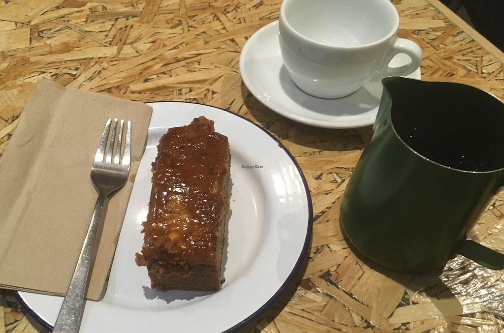 """Photo of Society Cafe - Kingsmead Square  by <a href=""""/members/profile/ImogenB"""">ImogenB</a> <br/>Vegan banana and peanut butter cake <br/> March 8, 2018  - <a href='/contact/abuse/image/88091/368060'>Report</a>"""