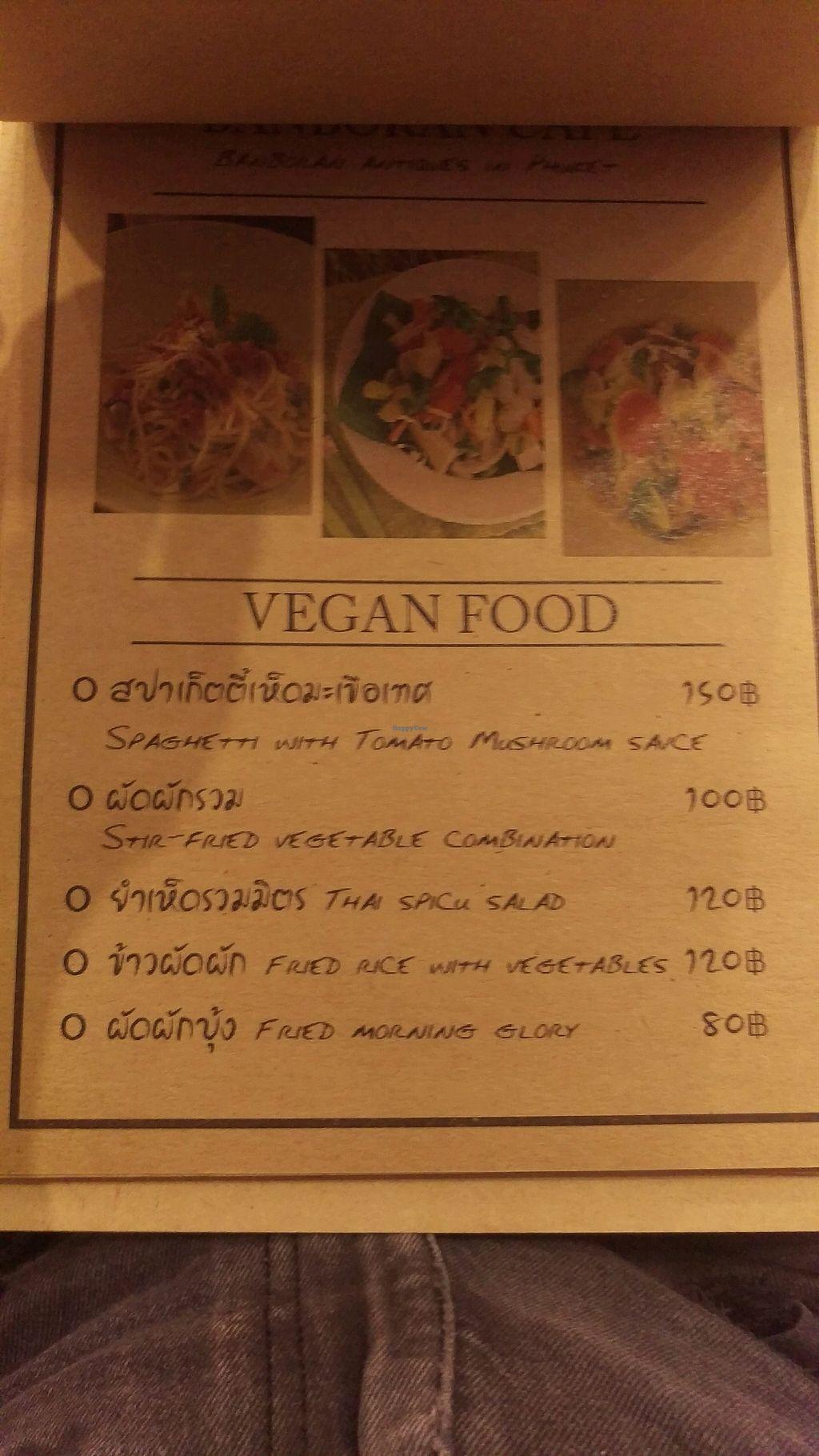 "Photo of Banboran Cafe  by <a href=""/members/profile/MarjoDsgln"">MarjoDsgln</a> <br/>vegan menu 1 <br/> February 19, 2018  - <a href='/contact/abuse/image/88108/361121'>Report</a>"
