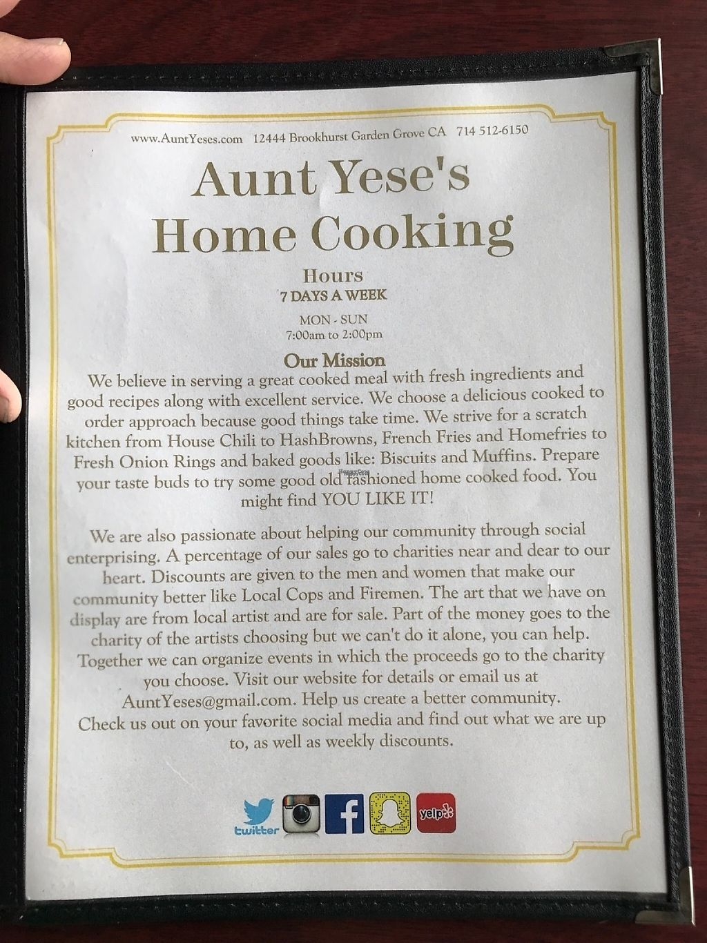 """Photo of Aunt Yese's Home Cooking  by <a href=""""/members/profile/xmrfigx"""">xmrfigx</a> <br/>A little bit about the place <br/> March 4, 2017  - <a href='/contact/abuse/image/88111/232674'>Report</a>"""