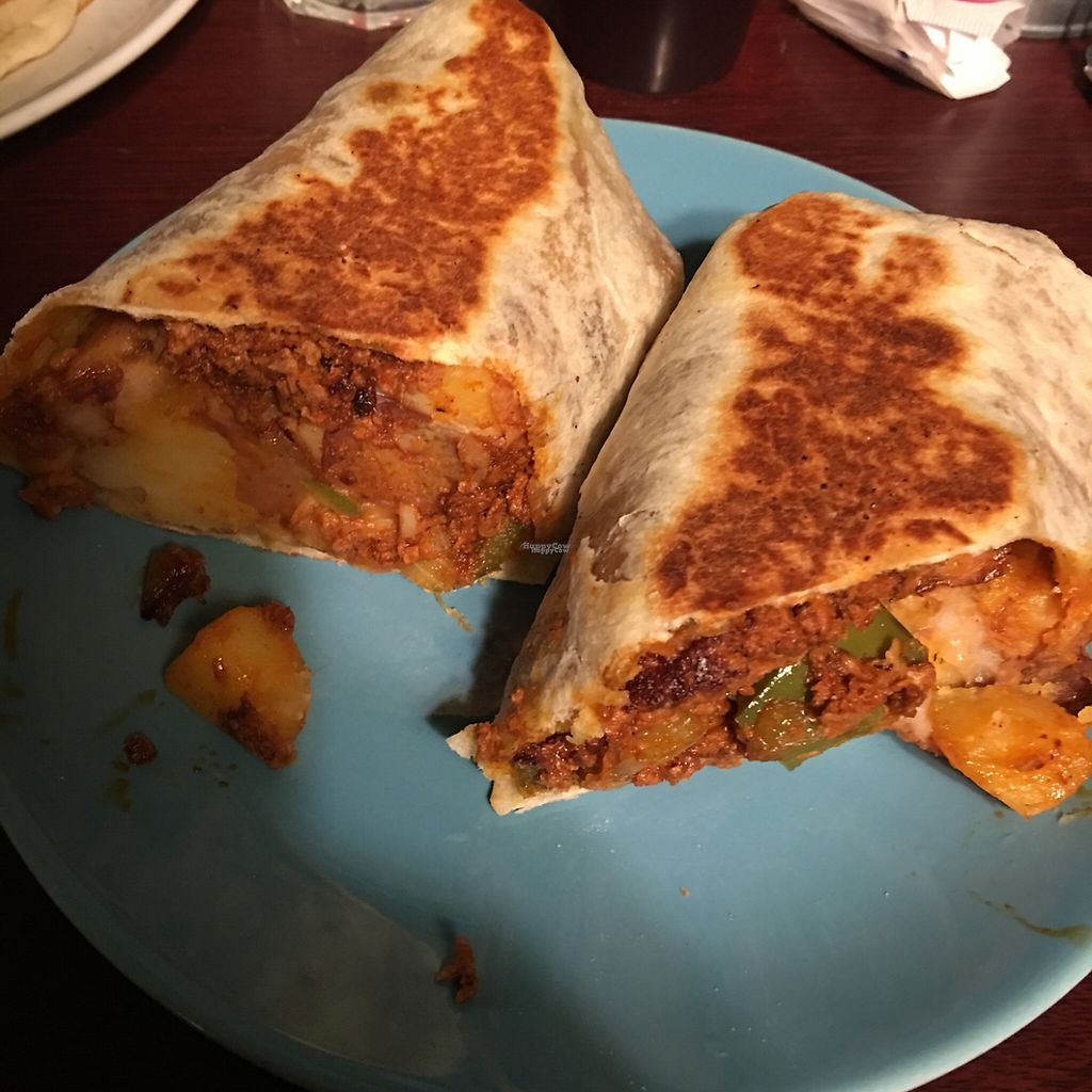 """Photo of Aunt Yese's Home Cooking  by <a href=""""/members/profile/xmrfigx"""">xmrfigx</a> <br/>Soyrizo Breakfast Burrito - So good! <br/> March 12, 2017  - <a href='/contact/abuse/image/88111/235490'>Report</a>"""