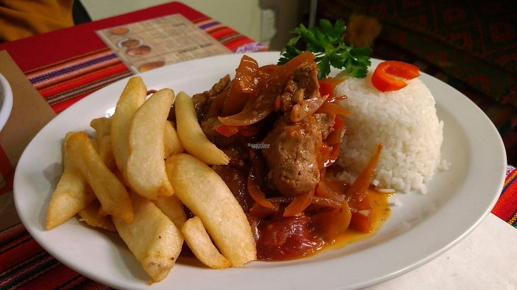 "Photo of Sabor Peruano  by <a href=""/members/profile/bduboff"">bduboff</a> <br/>The ""Lomo"" Saltado w/seitan <br/> March 5, 2017  - <a href='/contact/abuse/image/88160/233188'>Report</a>"