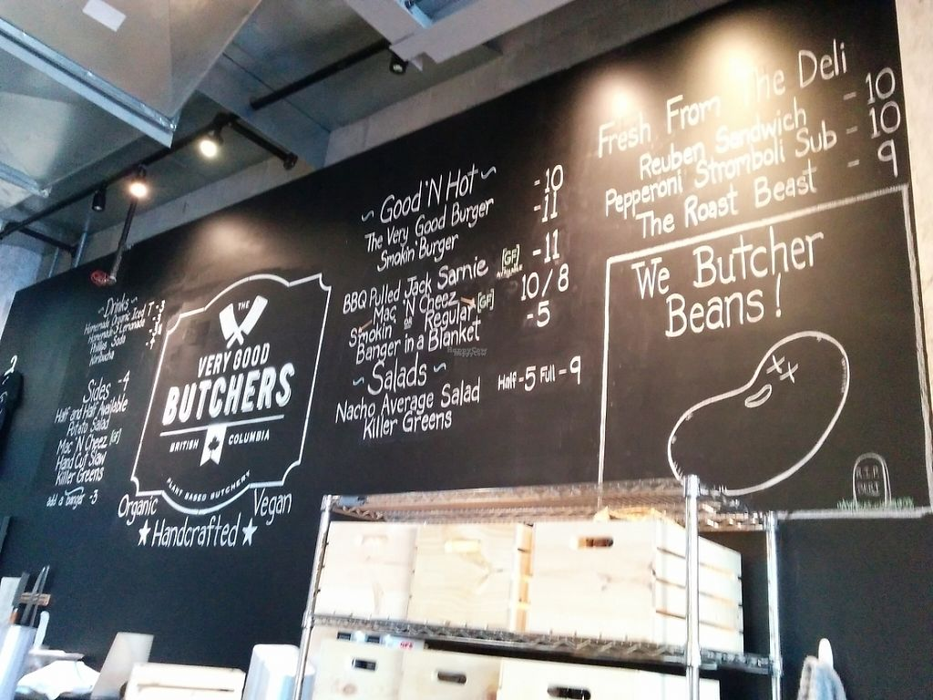 """Photo of The Very Good Butchers  by <a href=""""/members/profile/CLRtraveller"""">CLRtraveller</a> <br/>blackboard menu <br/> March 30, 2017  - <a href='/contact/abuse/image/88179/242752'>Report</a>"""
