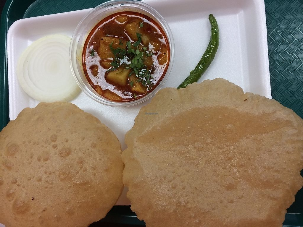 """Photo of Desi Street Food  by <a href=""""/members/profile/MyGreenTongue"""">MyGreenTongue</a> <br/>Aloo Curry & Puri <br/> May 24, 2017  - <a href='/contact/abuse/image/88226/262106'>Report</a>"""