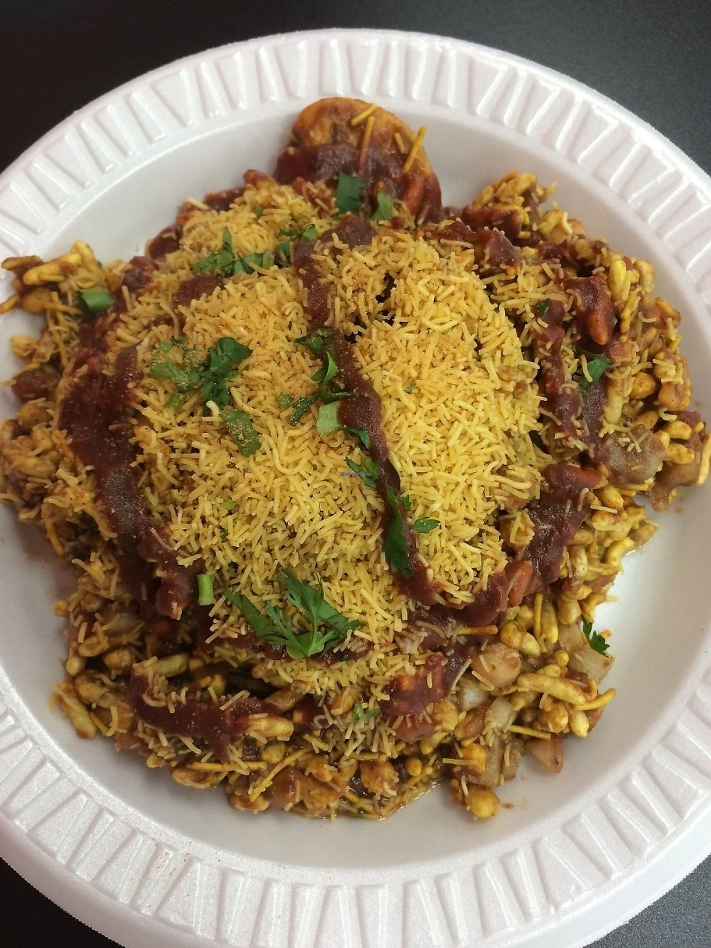 """Photo of Desi Street Food  by <a href=""""/members/profile/MyGreenTongue"""">MyGreenTongue</a> <br/>Bhel Puri <br/> May 24, 2017  - <a href='/contact/abuse/image/88226/262107'>Report</a>"""