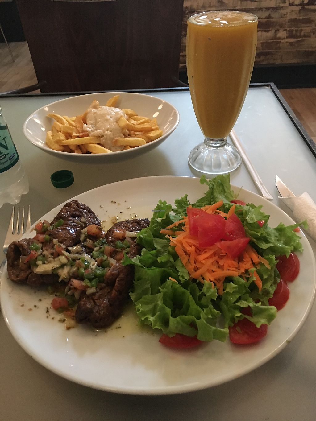 """Photo of Loving Hut  by <a href=""""/members/profile/thelifeofpie"""">thelifeofpie</a> <br/>Seitan steak... Hail Seitan!! <br/> February 7, 2018  - <a href='/contact/abuse/image/88227/355875'>Report</a>"""