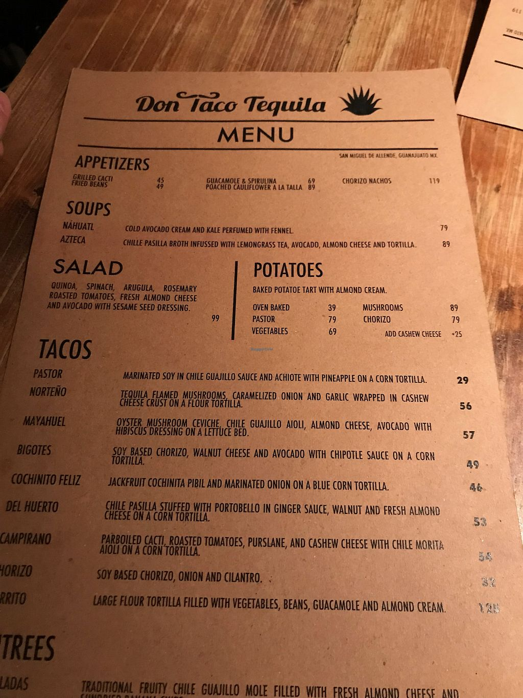 """Photo of Don Taco Tequila  by <a href=""""/members/profile/JosiahW"""">JosiahW</a> <br/>Menu <br/> April 3, 2018  - <a href='/contact/abuse/image/88272/380403'>Report</a>"""