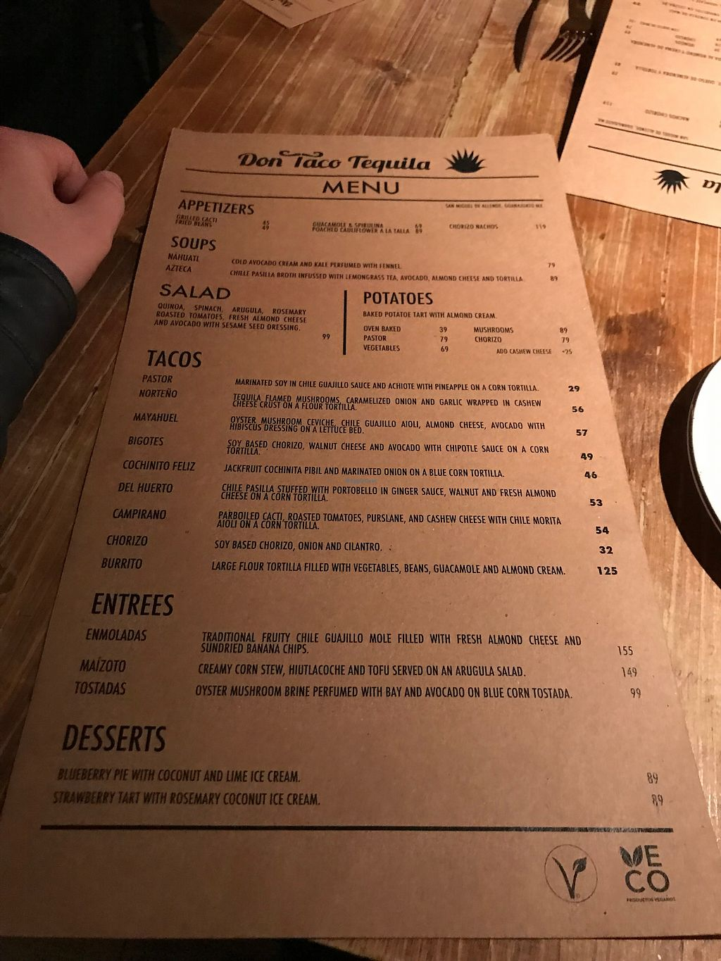 """Photo of Don Taco Tequila  by <a href=""""/members/profile/JosiahW"""">JosiahW</a> <br/>Menu <br/> April 3, 2018  - <a href='/contact/abuse/image/88272/380404'>Report</a>"""