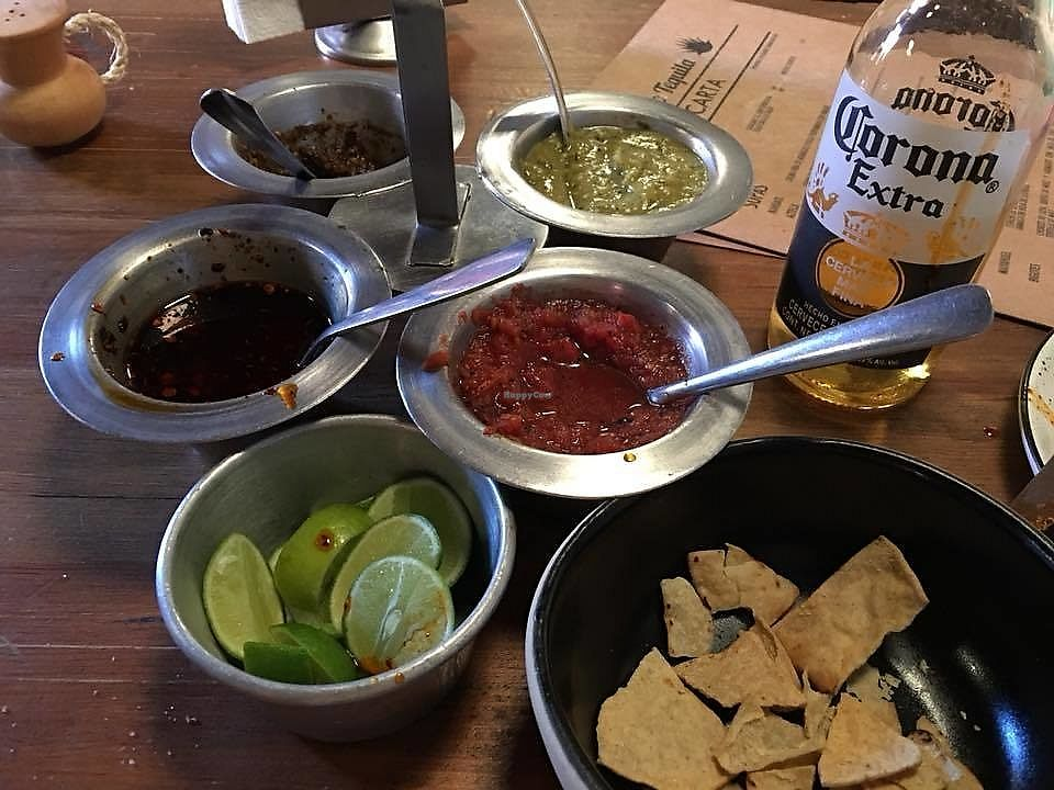"""Photo of Don Taco Tequila  by <a href=""""/members/profile/DeLoraMarie"""">DeLoraMarie</a> <br/>Salsa with chips.  The one on the far left is AMAZING! <br/> April 16, 2018  - <a href='/contact/abuse/image/88272/386844'>Report</a>"""