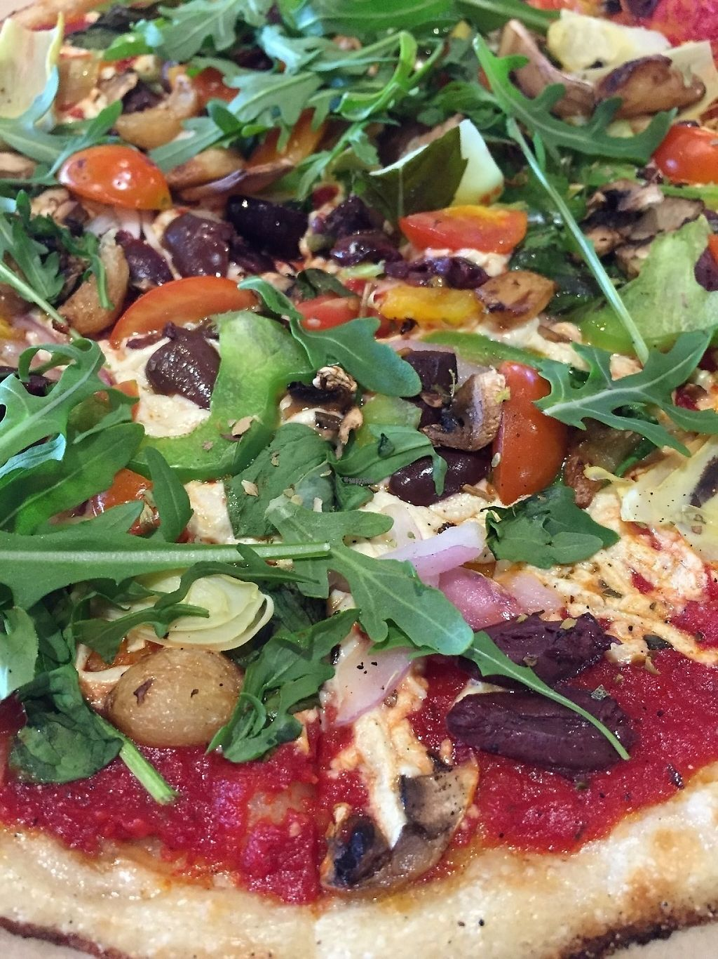"""Photo of Blaze Pizza  by <a href=""""/members/profile/SierraSarah"""">SierraSarah</a> <br/>Vegan pizza <br/> March 9, 2017  - <a href='/contact/abuse/image/88316/234568'>Report</a>"""