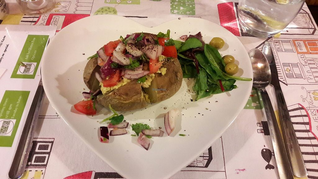 "Photo of Manchester Vegan Centre  by <a href=""/members/profile/Veganolive1"">Veganolive1</a> <br/>Jacket potato with houmous  <br/> August 5, 2017  - <a href='/contact/abuse/image/88353/289255'>Report</a>"