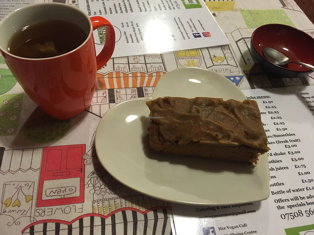 "Photo of Manchester Vegan Centre  by <a href=""/members/profile/monisonfire"">monisonfire</a> <br/>earl grey + banana cake <br/> October 5, 2017  - <a href='/contact/abuse/image/88353/312043'>Report</a>"