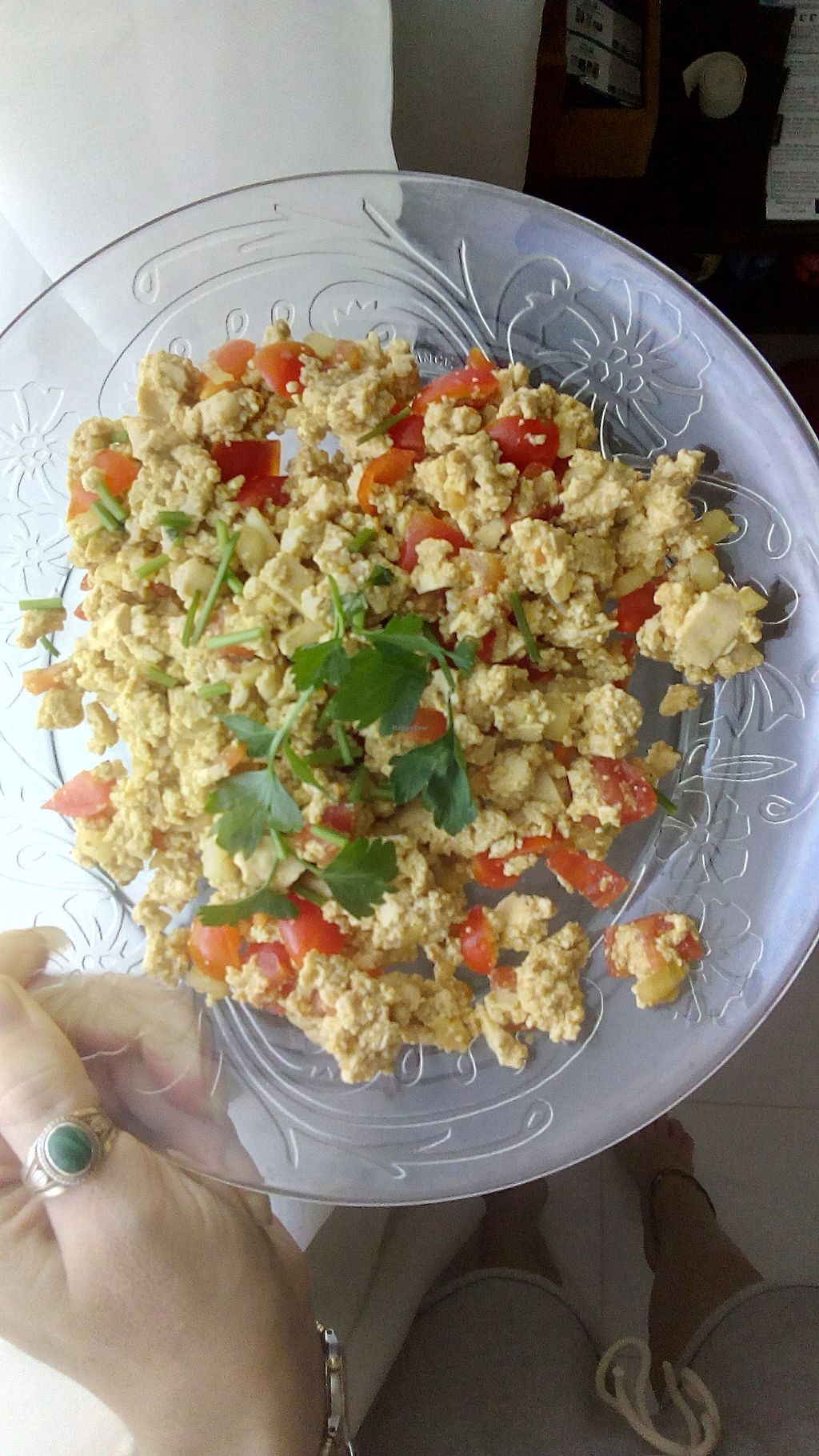 "Photo of U are Brilliant Homestay  by <a href=""/members/profile/u_are_brilliant"">u_are_brilliant</a> <br/>Vegan Scrambled Tofu tastes amazingly real! <br/> July 14, 2017  - <a href='/contact/abuse/image/88363/280307'>Report</a>"