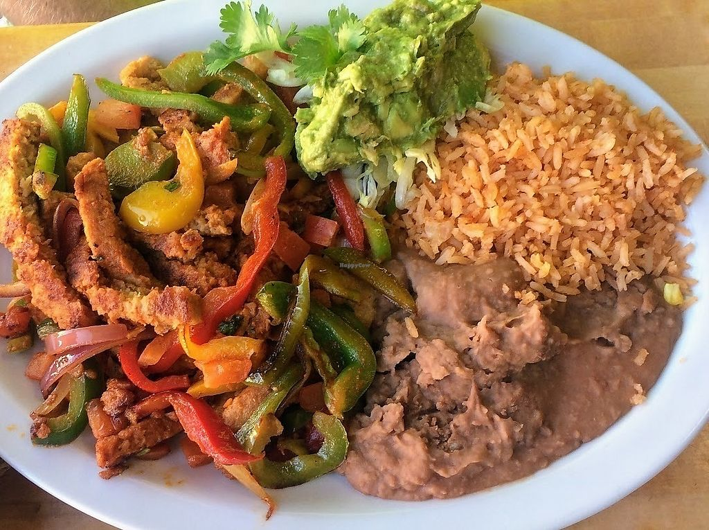 """Photo of Hugo's Cocina   by <a href=""""/members/profile/fullbellyhappyheart"""">fullbellyhappyheart</a> <br/>Carne Asada fajitas <br/> June 20, 2017  - <a href='/contact/abuse/image/88374/271198'>Report</a>"""