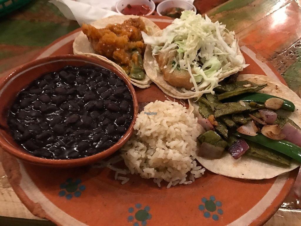 """Photo of La Santisima  by <a href=""""/members/profile/Tigra220"""">Tigra220</a> <br/>taco plate <br/> March 10, 2017  - <a href='/contact/abuse/image/88388/234735'>Report</a>"""