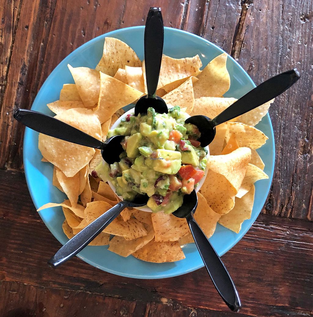 "Photo of La Santisima   by <a href=""/members/profile/Joeybrezinski"">Joeybrezinski</a> <br/>Chips and guacamole  <br/> March 24, 2018  - <a href='/contact/abuse/image/88389/375084'>Report</a>"
