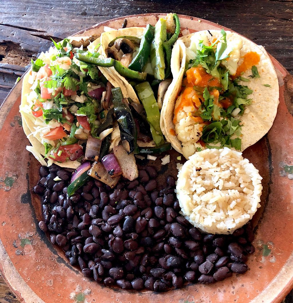 "Photo of La Santisima   by <a href=""/members/profile/Joeybrezinski"">Joeybrezinski</a> <br/>Vegan taco plate  <br/> March 24, 2018  - <a href='/contact/abuse/image/88389/375086'>Report</a>"