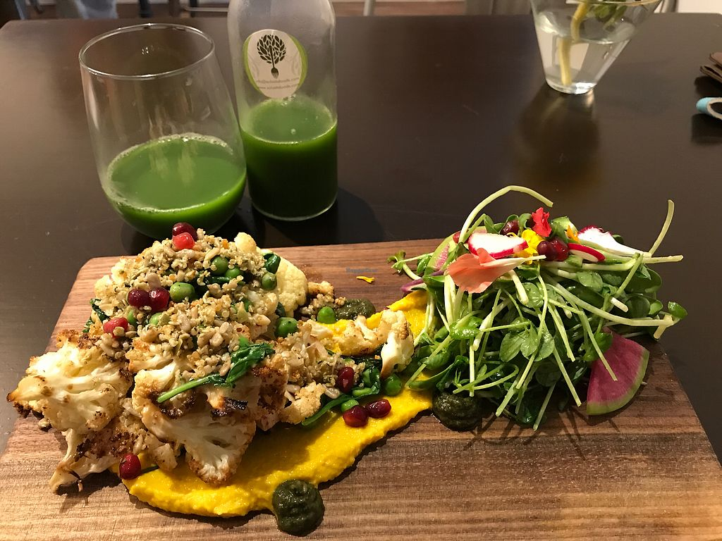 """Photo of CLOSED: Solasta Foods  by <a href=""""/members/profile/Charliepenn"""">Charliepenn</a> <br/>Lemon roasted cauliflower with golden beet hummus <br/> November 13, 2017  - <a href='/contact/abuse/image/88402/325367'>Report</a>"""
