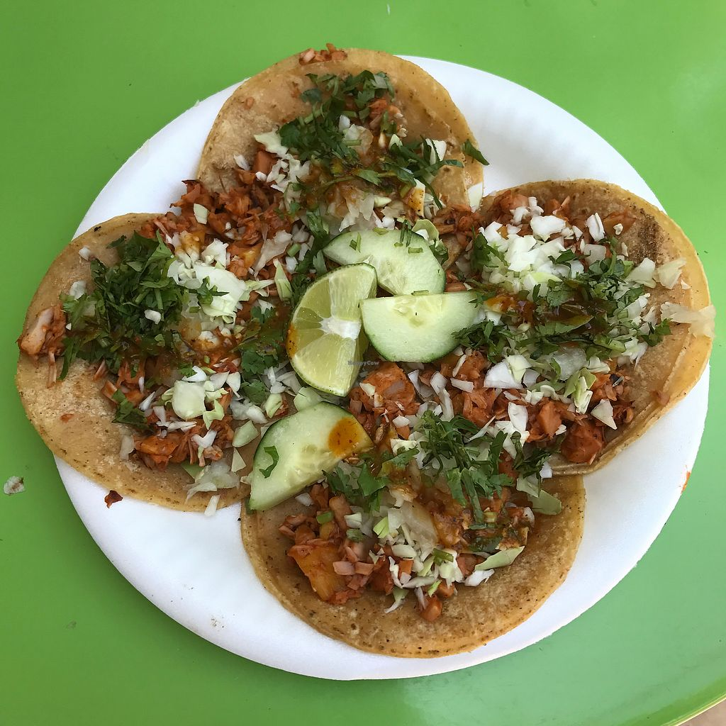 """Photo of La Jacka Mobile - Food Truck  by <a href=""""/members/profile/Lanahexapod"""">Lanahexapod</a> <br/>Jackfruit tacos al pastor <br/> March 2, 2018  - <a href='/contact/abuse/image/88415/365711'>Report</a>"""