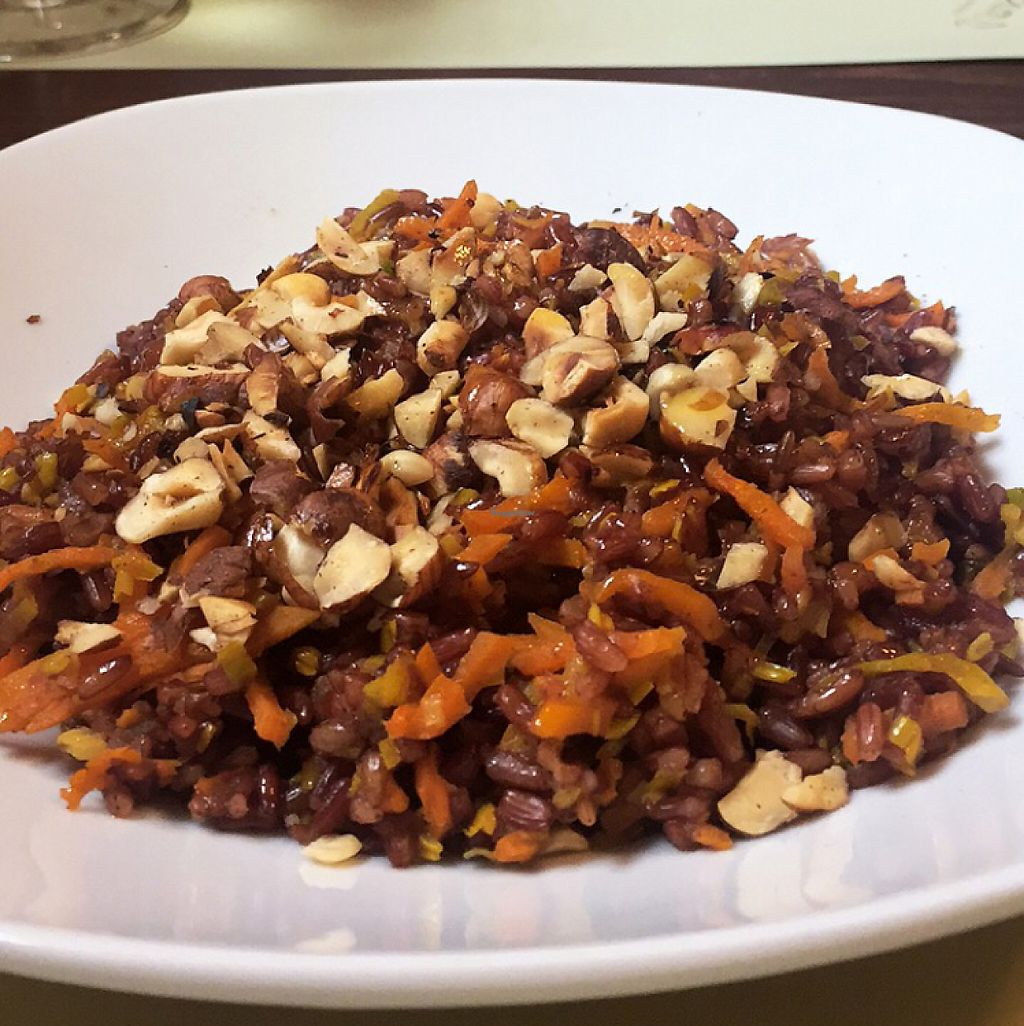 "Photo of El Cuciar  by <a href=""/members/profile/JayBeech"">JayBeech</a> <br/>Vegan/Gluten Free curried wild red rice with vegetables and hazlenuts <br/> June 6, 2017  - <a href='/contact/abuse/image/88427/266316'>Report</a>"