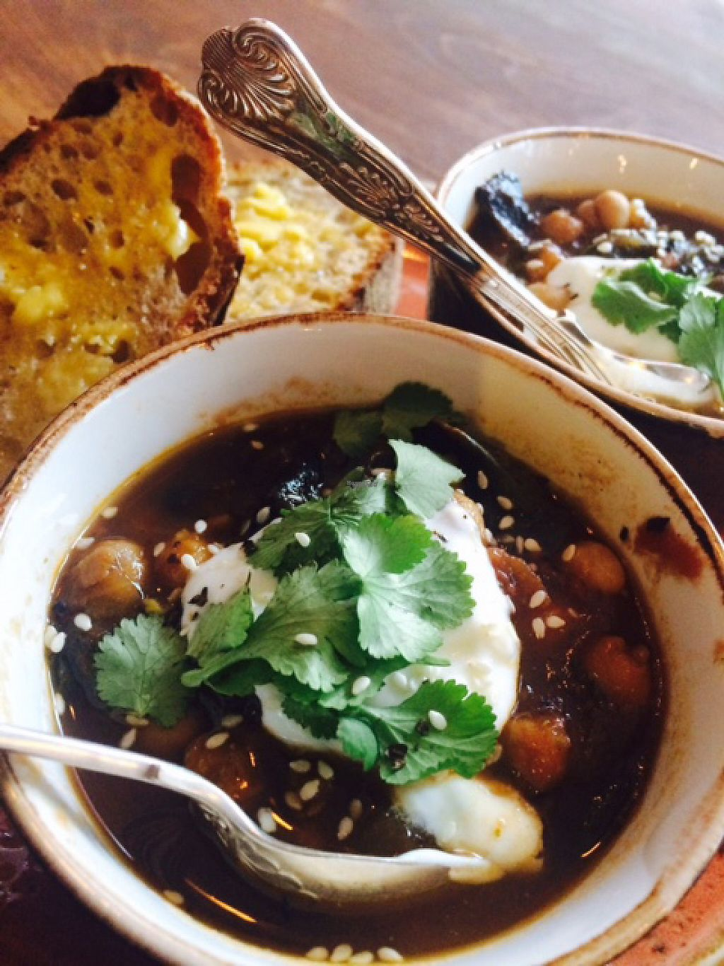 """Photo of Gather  by <a href=""""/members/profile/Gather"""">Gather</a> <br/>Chick pea chilli with soya yogurt <br/> March 11, 2017  - <a href='/contact/abuse/image/88432/235275'>Report</a>"""