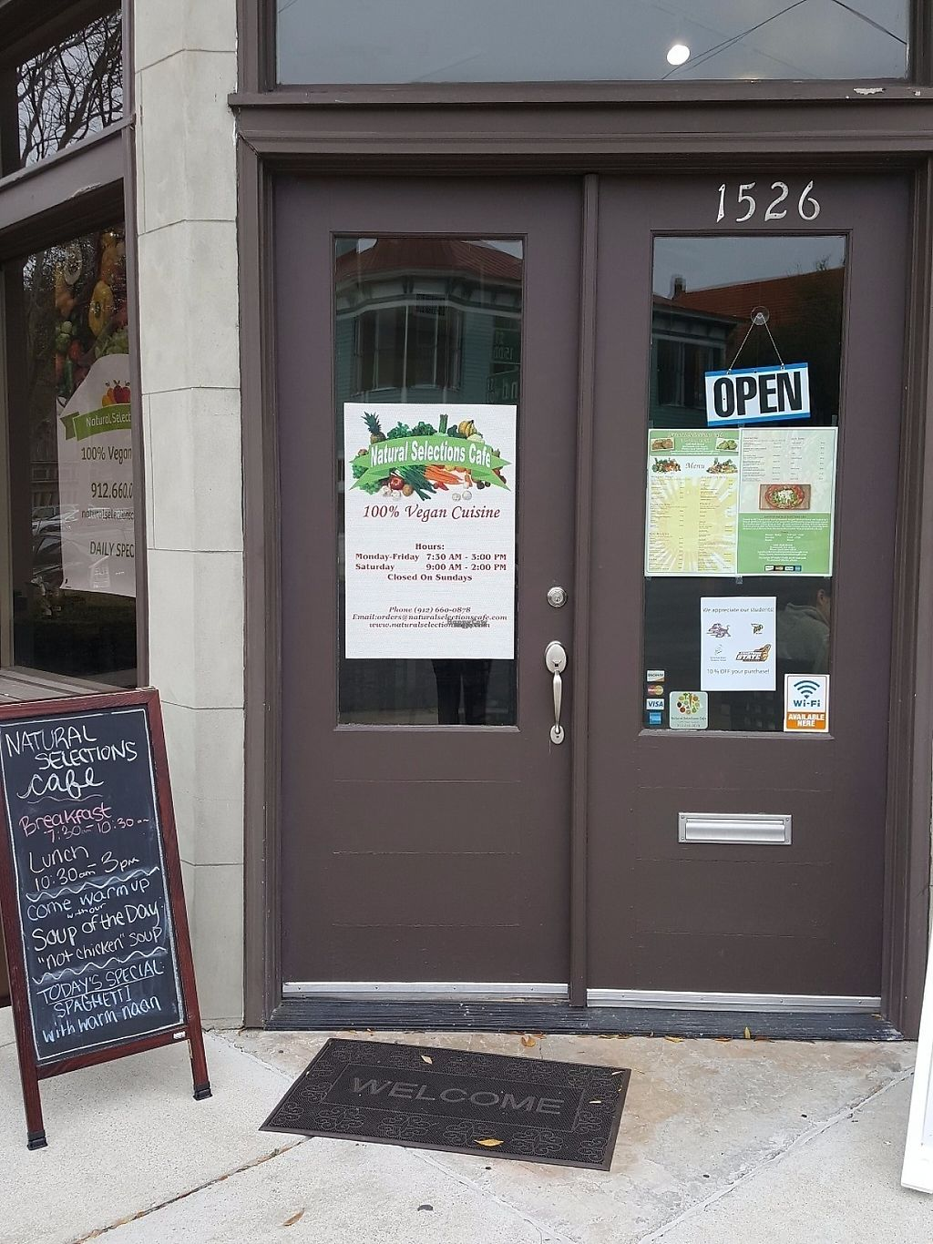 """Photo of Natural Selections Cafe  by <a href=""""/members/profile/DavidaHarris"""">DavidaHarris</a> <br/>1526 Bull street stop by and see us! <br/> March 13, 2017  - <a href='/contact/abuse/image/88434/235971'>Report</a>"""