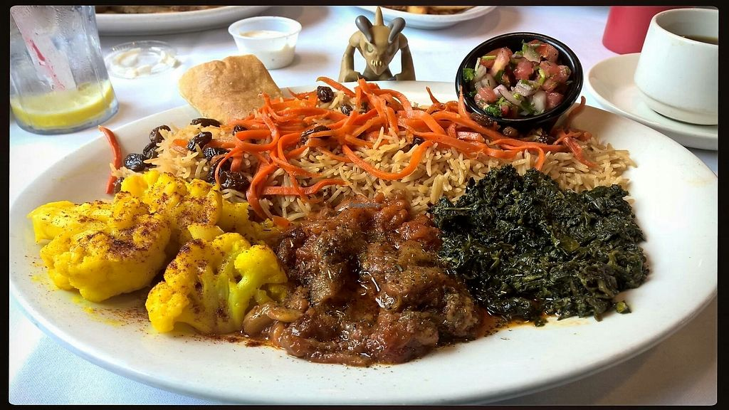 "Photo of Roxana's Restaurant  by <a href=""/members/profile/JoshuaKremke"">JoshuaKremke</a> <br/>roxana's vegetarian plate (modified to be vegan) <br/> August 28, 2017  - <a href='/contact/abuse/image/88444/298313'>Report</a>"
