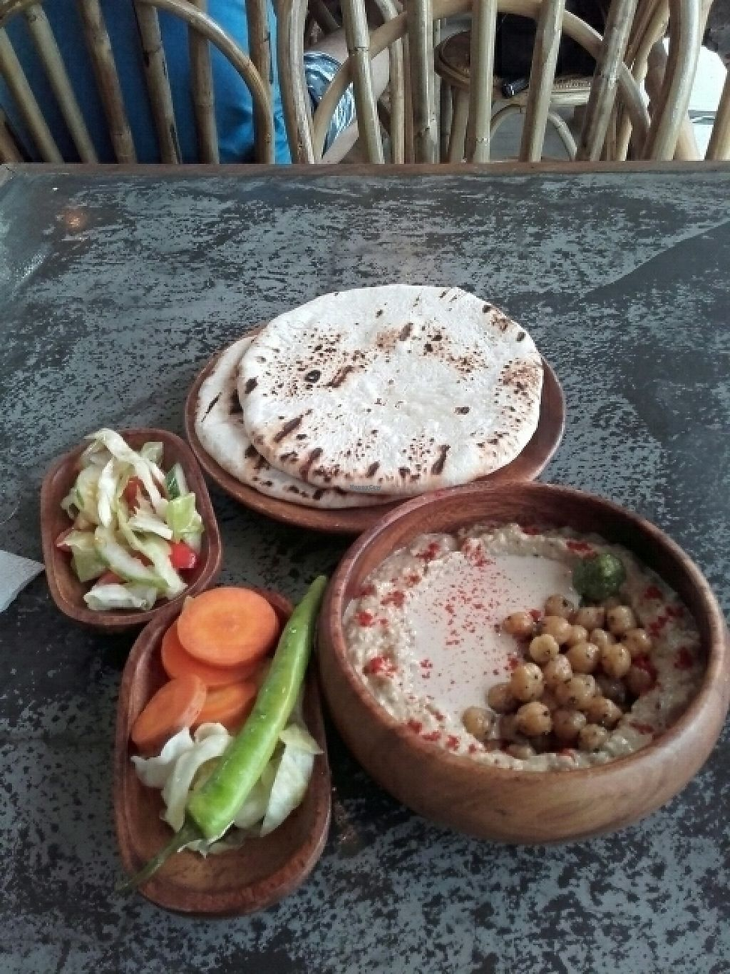 """Photo of Happiness Express  by <a href=""""/members/profile/ihriel"""">ihriel</a> <br/>Hummus, pitas & salad <br/> March 21, 2017  - <a href='/contact/abuse/image/88461/239326'>Report</a>"""