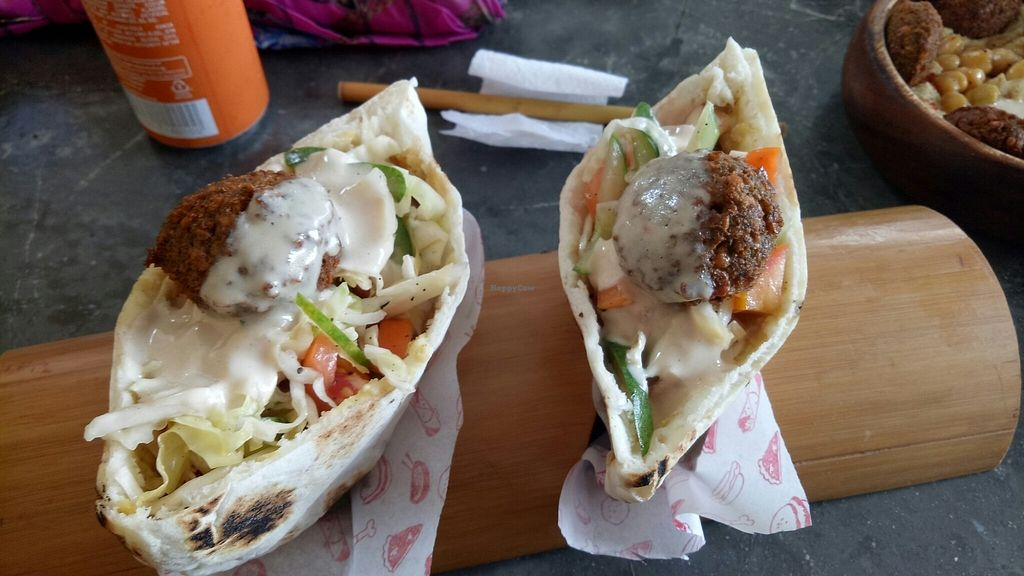 """Photo of Happiness Express  by <a href=""""/members/profile/HollyClayton"""">HollyClayton</a> <br/>falafel pita  <br/> July 28, 2017  - <a href='/contact/abuse/image/88461/285721'>Report</a>"""
