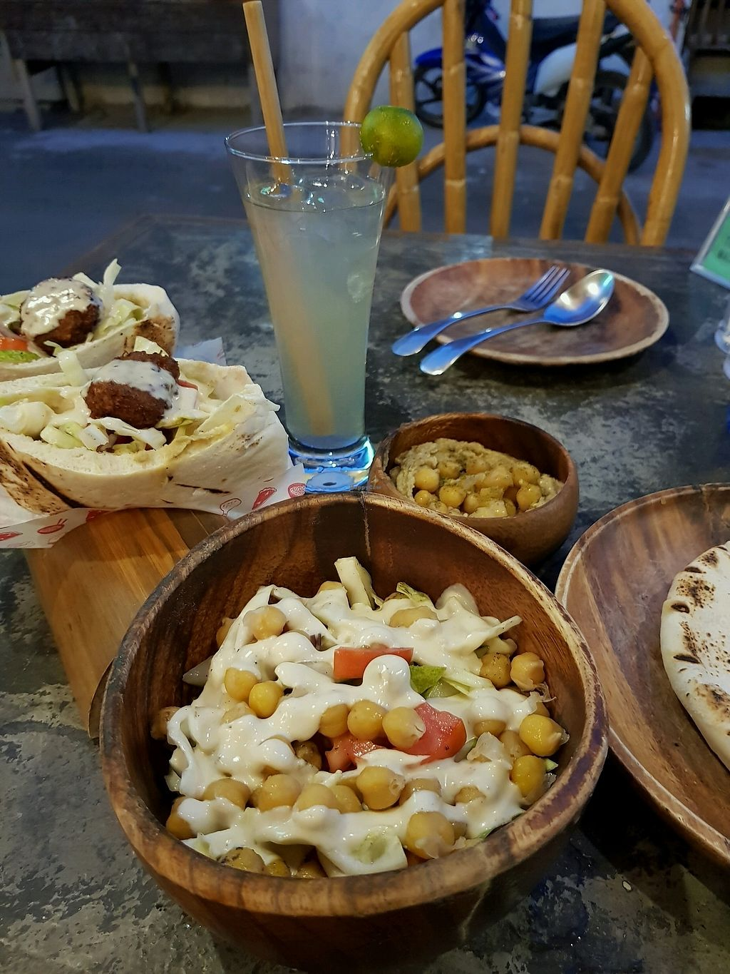 """Photo of Happiness Express  by <a href=""""/members/profile/zuckerzucker"""">zuckerzucker</a> <br/>happiness salad and falafel pita <br/> January 19, 2018  - <a href='/contact/abuse/image/88461/348267'>Report</a>"""