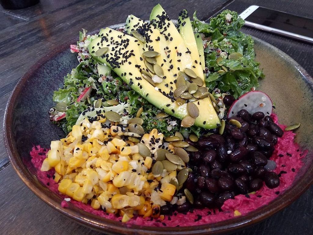 """Photo of Second Home  by <a href=""""/members/profile/ChrisMelb"""">ChrisMelb</a> <br/>BREAKFAST SUPER SALAD with BROCCOLI, PEAS, MINT, KALE, CHARRED CORN, BLACK BEANS, QUINOA, AVOCADO, BEETROOT HUMMUS  <br/> March 13, 2017  - <a href='/contact/abuse/image/88483/235752'>Report</a>"""