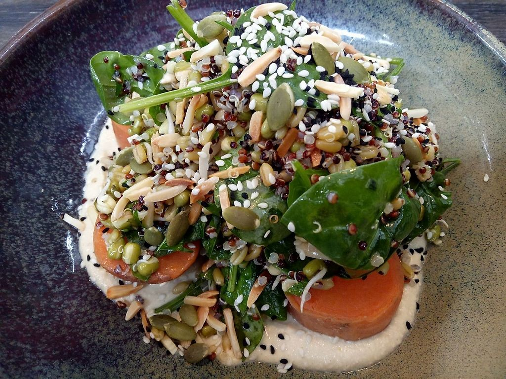 """Photo of Second Home  by <a href=""""/members/profile/ChrisMelb"""">ChrisMelb</a> <br/>MISO ROASTED SWEET POTATO & ANCIENT GRAIN SALAD with CASHEW CREAM, SPROUTED SEEDS & TOASTED NUTS  <br/> March 13, 2017  - <a href='/contact/abuse/image/88483/235753'>Report</a>"""