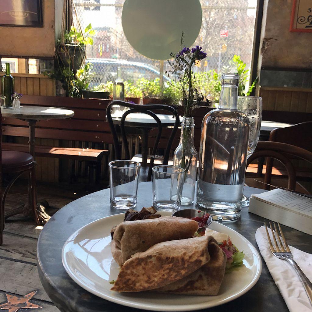 "Photo of Bar Velo  by <a href=""/members/profile/Suebedo"">Suebedo</a> <br/>breakfast burrito w/ tofu scramble  <br/> April 16, 2017  - <a href='/contact/abuse/image/88497/249052'>Report</a>"