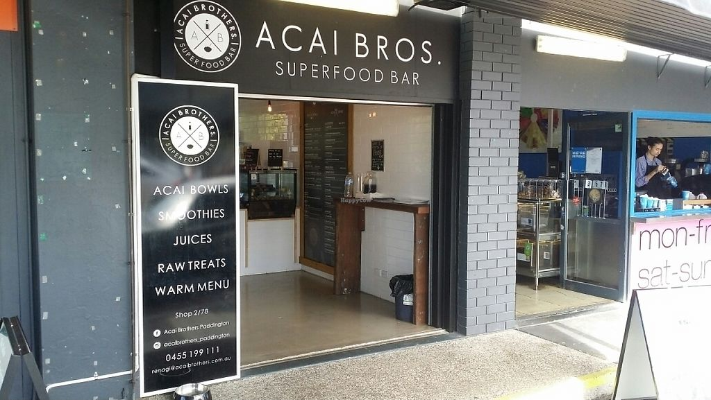 "Photo of Acai Brothers  by <a href=""/members/profile/Mike%20Munsie"">Mike Munsie</a> <br/>shop front <br/> May 2, 2017  - <a href='/contact/abuse/image/88499/254862'>Report</a>"