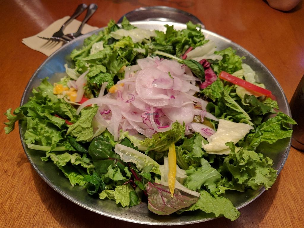"""Photo of Nine Road Pizzeria - 나인로드피제리아 강남점  by <a href=""""/members/profile/PhillipPark"""">PhillipPark</a> <br/>Salad pasta with no cheese <br/> July 21, 2017  - <a href='/contact/abuse/image/88508/282844'>Report</a>"""