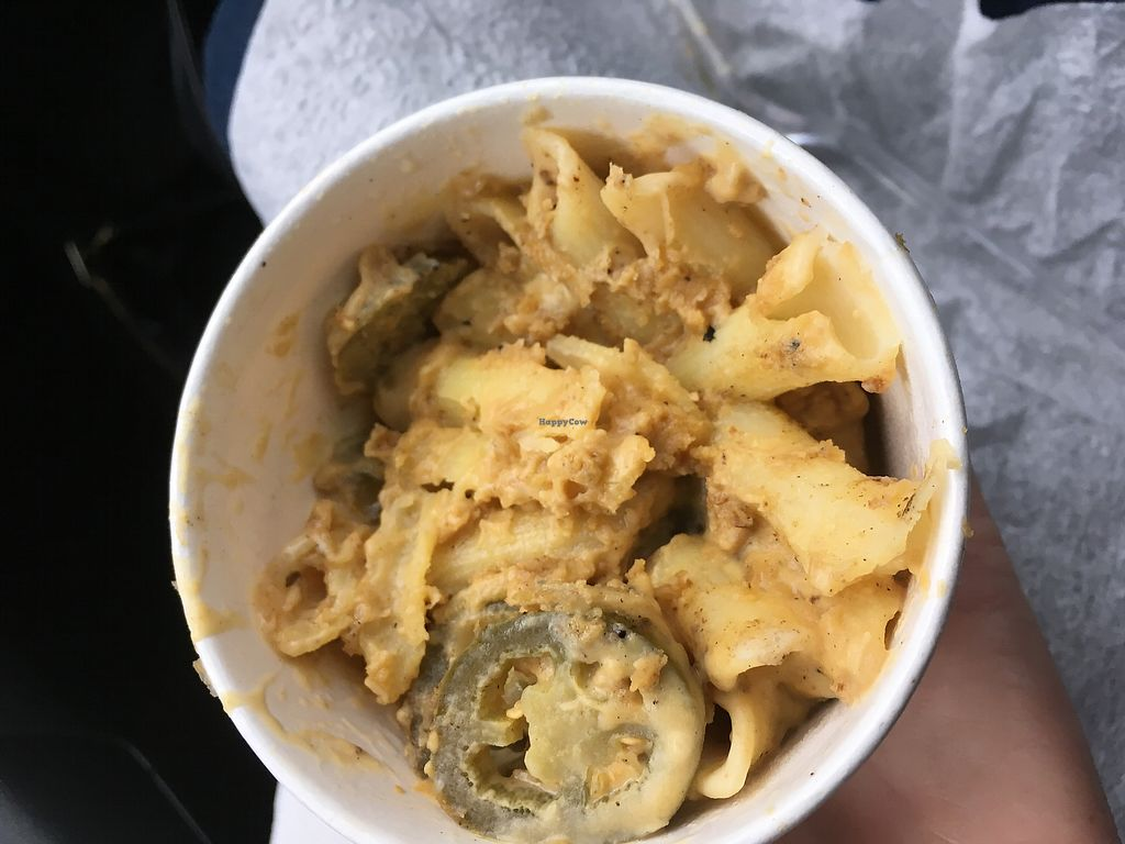 """Photo of The Vegan Nom Food Truck - E Cesar Chavez   by <a href=""""/members/profile/cflores"""">cflores</a> <br/>Vegan Mac n' cheese  <br/> January 5, 2018  - <a href='/contact/abuse/image/88511/343288'>Report</a>"""